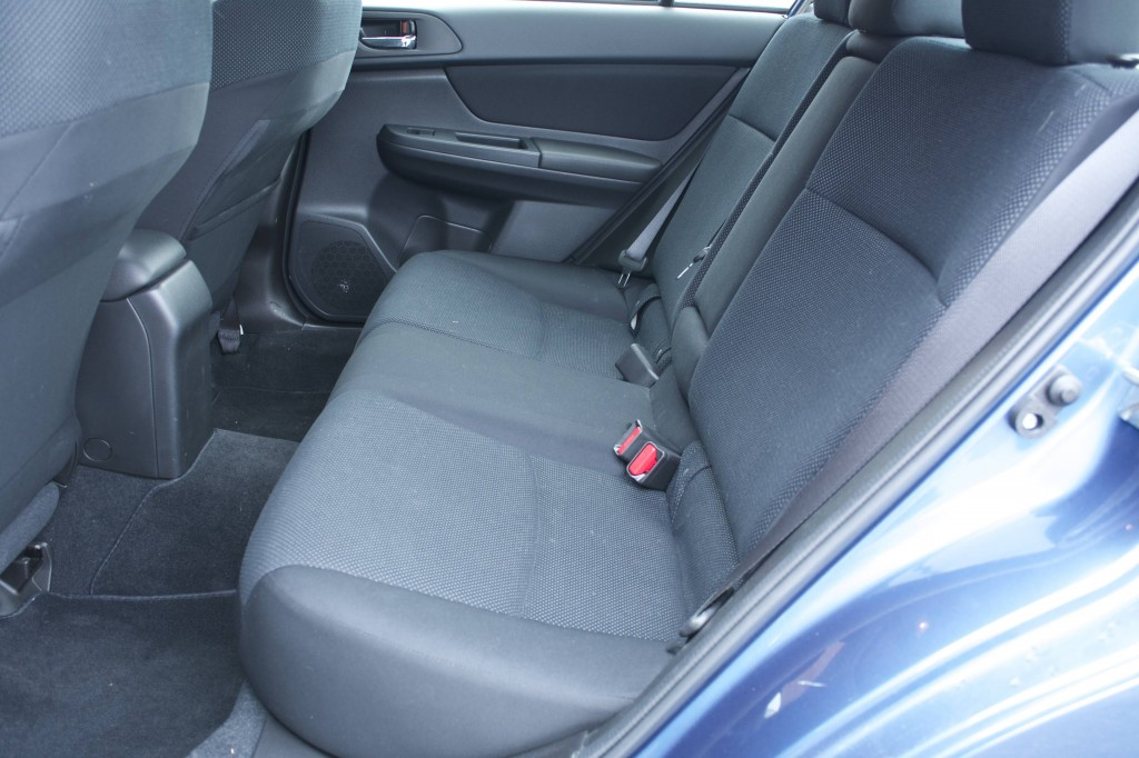 2014 Subaru Impreza rear seats